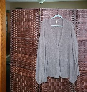 Free people knit snap front (2) pocket cardigan